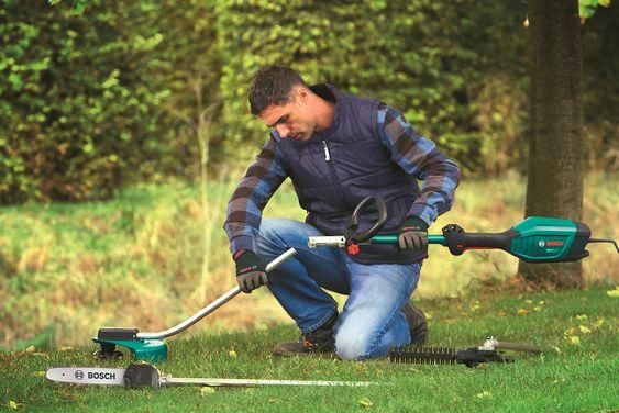 Mangehodet: Med Bosch AMW-multiverktøy kan du knuse ambisjonene til alle grønne skudd som røver å komme seg frem i hagen din.