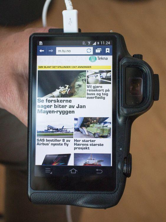 Følge med på nettet: Det er ikke alle kameraer du kan surfe på nettet med. De som vil surfe på tu.no kan attpå til gjøre raskt siden kameraet har både 3- og 4G.