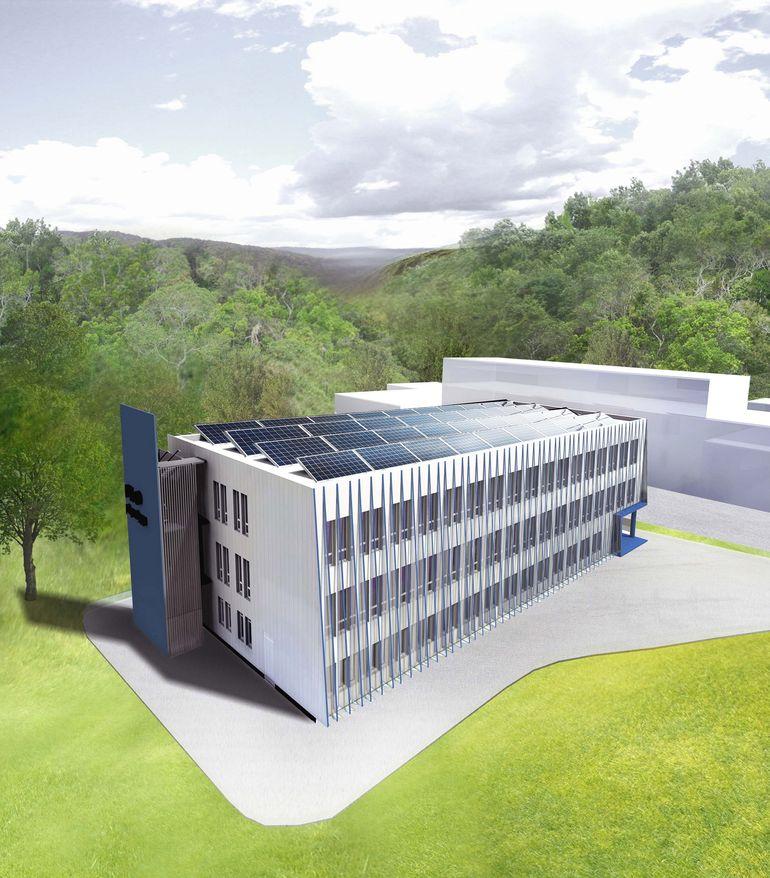 Det nye depotbygget på Haakonsvern blir et av landets første nullenergibygg.