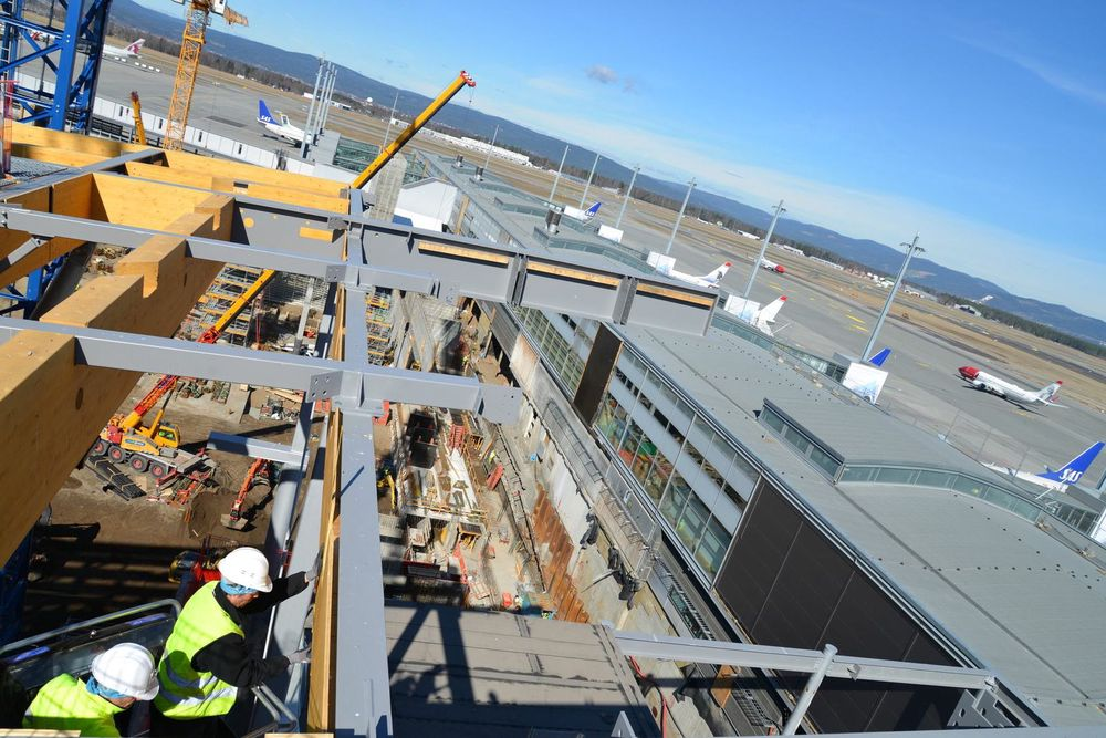 Gardermoen som byggeplass. foto: Fredrik Drevon