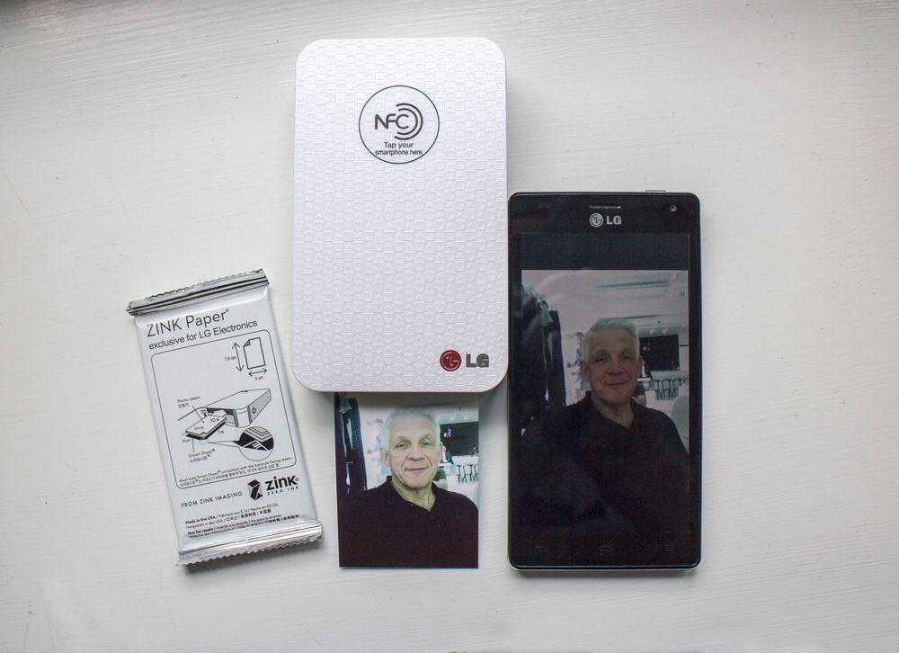 Bilde i en fart: LG Pocket Photo skriver ut et bilde fra mobilen på 15 sekunder. Trådløst og på batteri. Men kvaliteten kunne vært bedre-
