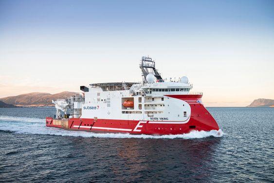 Norsk teknologi: Seven Viking er et av verdens mest avanserte spesialskip for vedlikeholds- og inspeksjonsarbeid. Skipet er designet og bygget av Ulstein for Eidesvik og Subsea7.  Foto: Per Eide/Ulstein