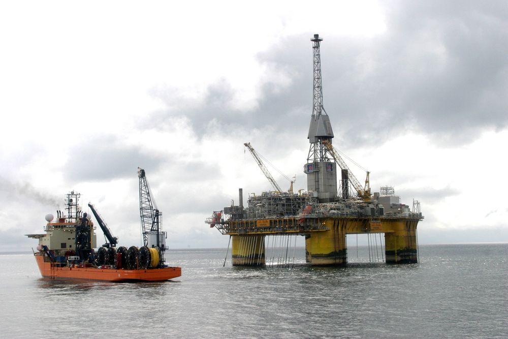 Visund: Produksjonen på Visund-plattformen var stengt ned, noe som ga utfordringer i installasjonsfasen av Visund Nord.
