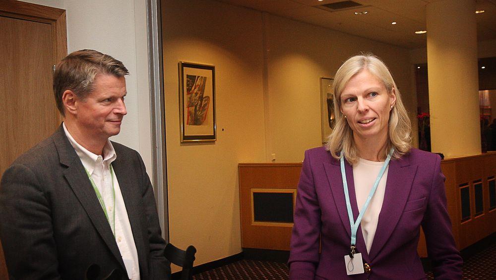 HØYRE-VENNER: Påtroppende leder fro Maritim bransje i Norsk Industri, Lars Gørvell-Dahll, og konsernsjef Gunvor Ulstein i Ulstein Group, har stor tiltro til at den nye regjeringen vil føre en god politikk for den maritime næringen.