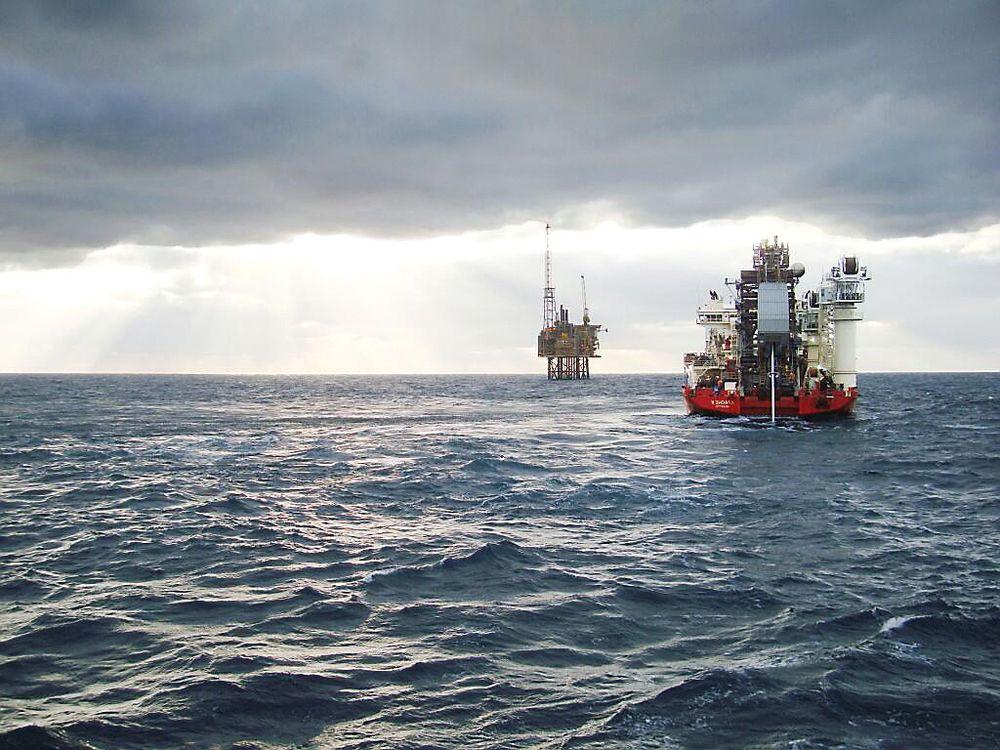 Gaupe: Her knyttes Gaupe-feltet til Armada-plattformen på britisk sektor. Foto: BG Group
