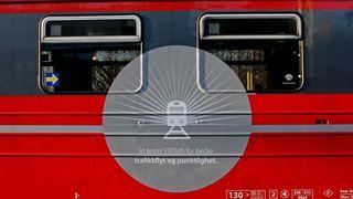 Her testes toget som kjører uten lyssignaler