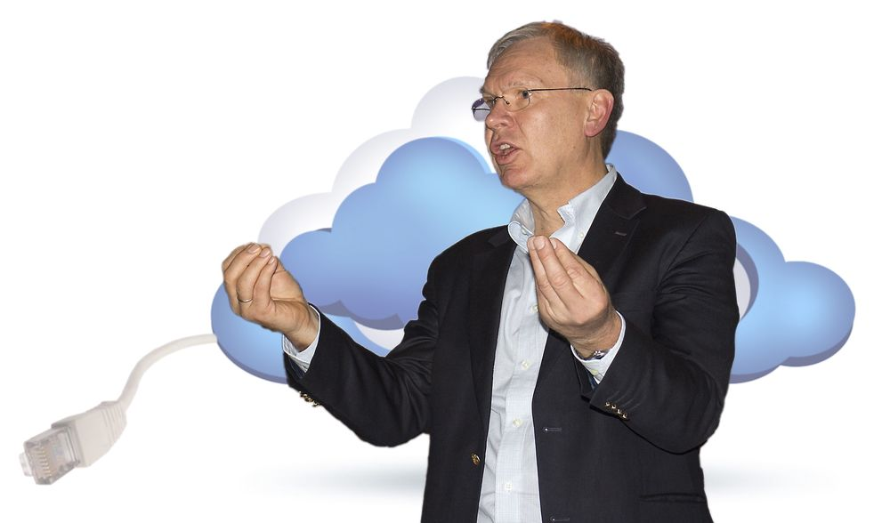 Har det morsomt: – Alle de store trendene som nå slår inn for full kraft gjør jobben morsommere enn noen gang før mener Ciscosjef Jørgen Myrland.