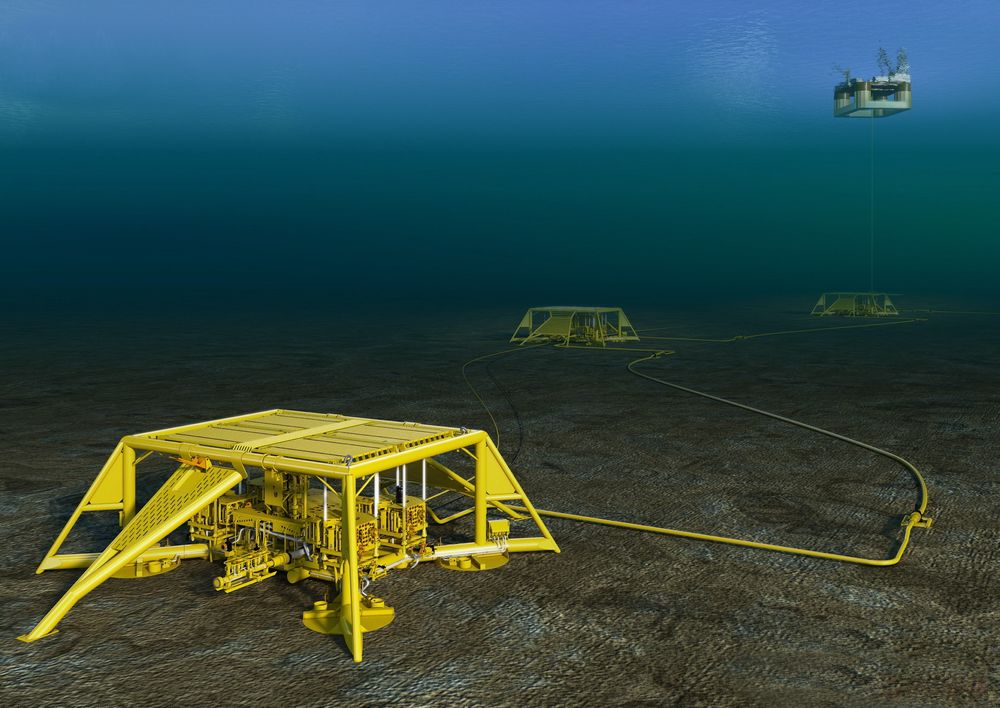 Slitasje på fleksible rør offshore har vært vanskelig å fastslå, men to spesialistselskaper har i samarbeid med Shell utviklet analyseverktøy som beregner resterende brukstid. Bildet er en illustrasjon av tilsvarende installasjon på Vega-feltet.
