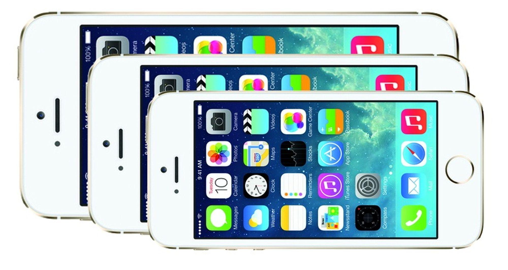 Rykte om vekst: Apple vil ikke gi bort markedet for store smarttelefoner til konkurrentene. Ifølge de siste ryktene kommer de med en på 4,7 og en på 5,5 tommer neste år.