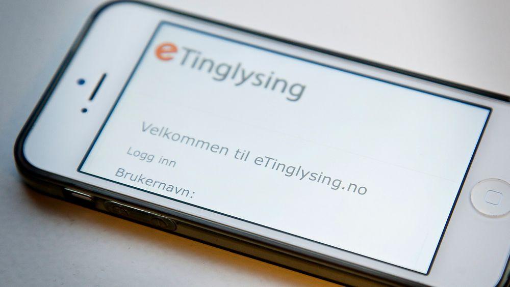 En løsning for elektronisk tinglysing er oppe og går i samarbeid mellom Norsk Eiendomsinformasjon og Kartverket, som heller vil lage noe nytt når de store volumene skal inn.