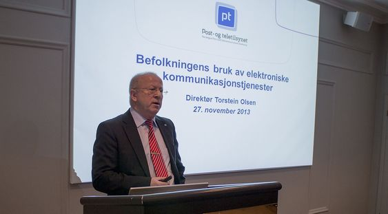 PT-sjef: Sjefen for Post- og teletilsynet Torstein Olsen konstaterer at vi snakker ikke mer enn før, men vi kommuniserer mye mer skriftlig.