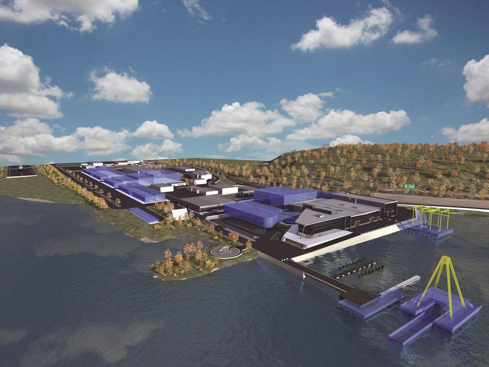 VIL BLI BEST: Med en utvidelse på 70.000 kvadratmeter, i tillegg til de 12.000 som allerede er i dag, vil Telemark Teknologipark bli Nordens beste produksjons- og testsenter for subsea-, olje- og gassindustrien. Illustrasjon: Telemark Teknologipark