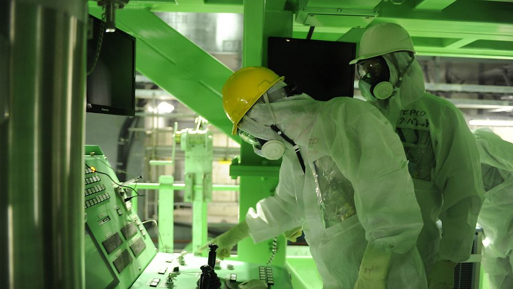 Arbeidet med å fjerne brenselstaver fra det ødelagte Fukushima-anlegget i Japan er i gang.