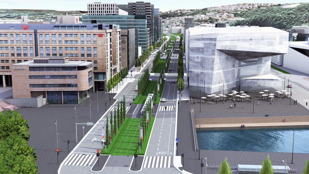 For den nye avenyen Dronning Eufemias gate i Bjørvika er det benyttet 3D-modellering. Det har bidratt til færre endringer og derfor også lavere kostnader for det svært kompliserte prosjektet.