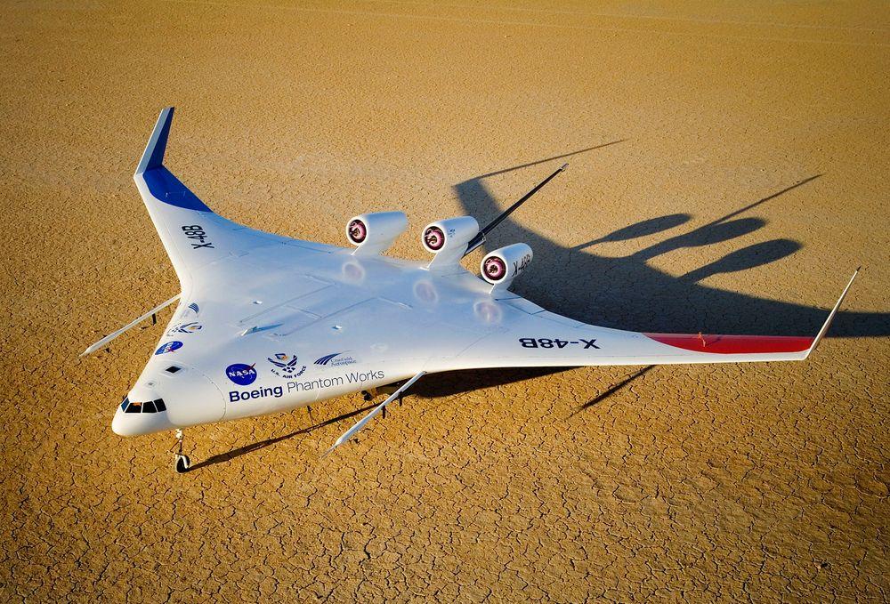 Forsøkene med vingeflyet X-48B startet i 2007.