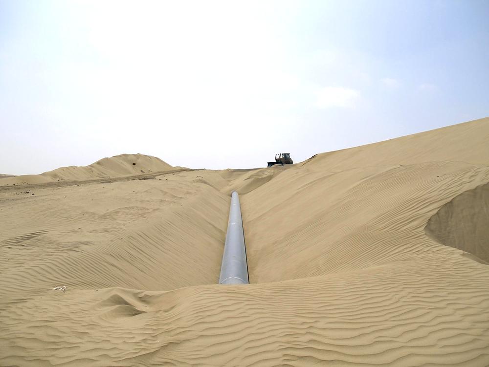 Utsatt: Statoil har, sammen med det  spanske selskapet Repsol, et større anlegg i Murzuq som ligger 20 mil sør for byen Sabha. Anlegget ligger utsatt til midt i ørkenen i Libya. foto: Repsol