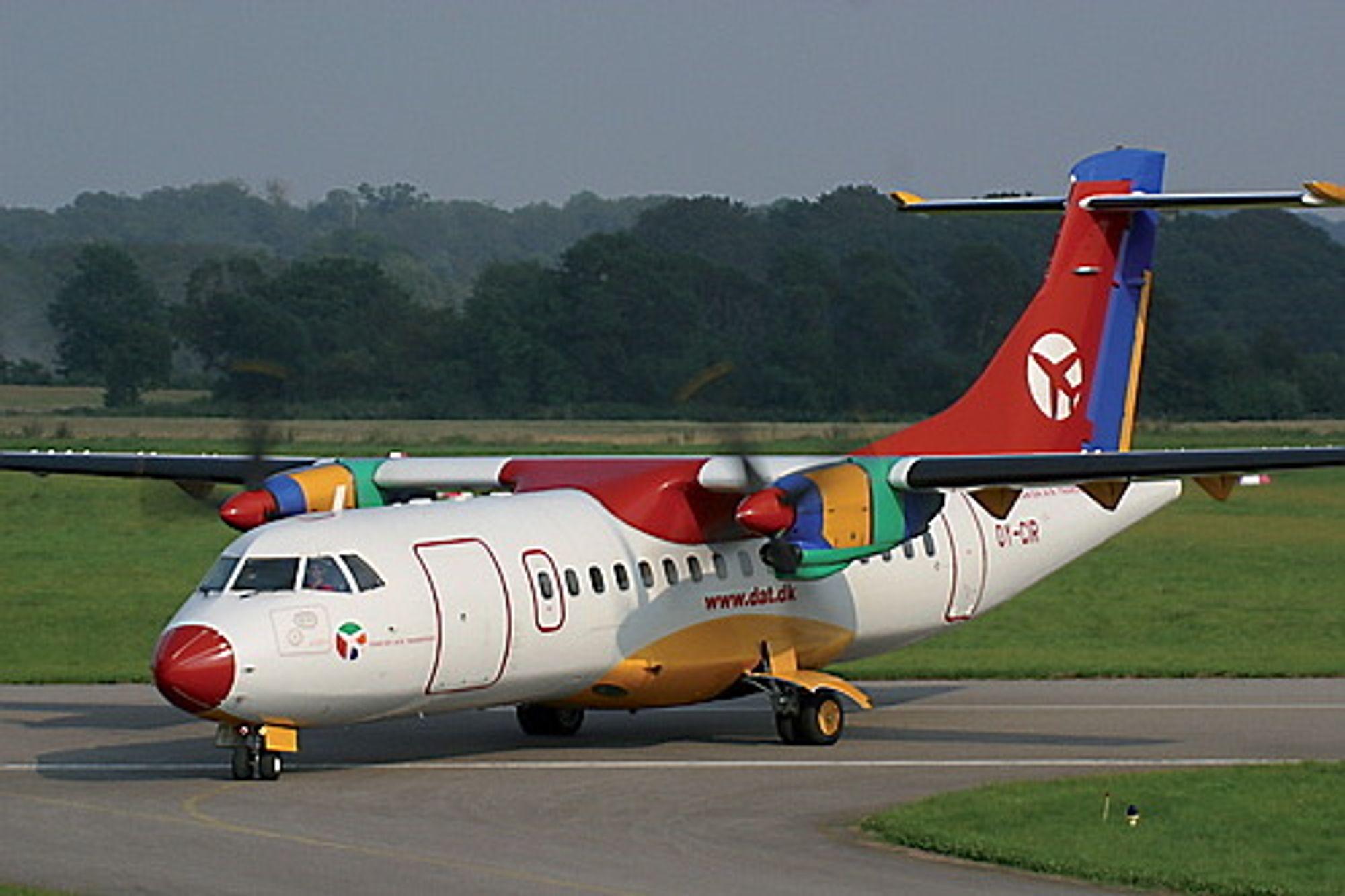 Det var et slikt ATR 42 som fikk problemer under avgang fra Flesland for fem år siden.