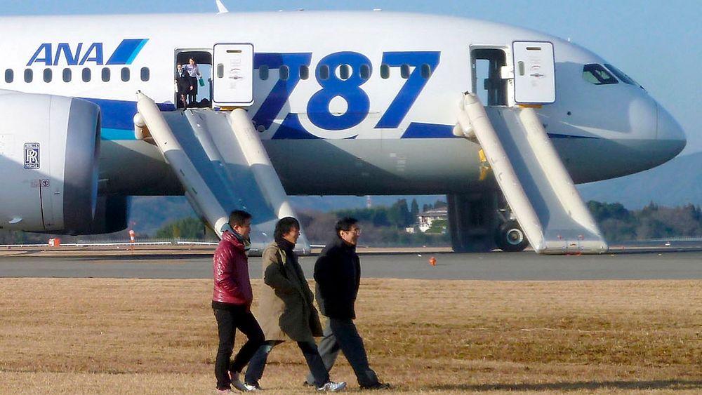Passasjerer fra All Nippon Airways' (ANA) Boeing 787 Dreamliner som måtte nødlande i Japan onsdag.