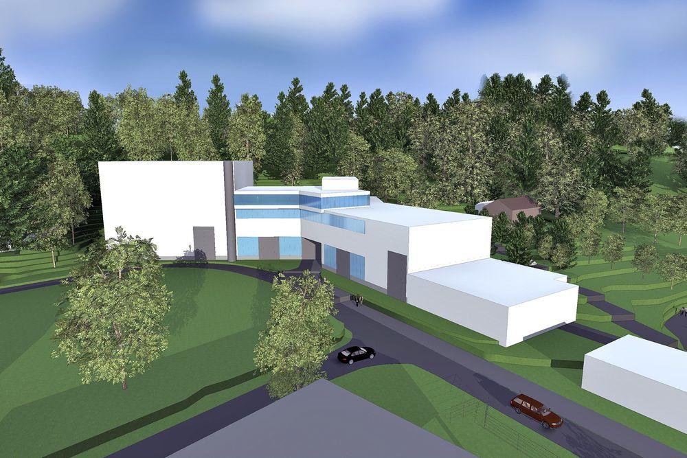 Skisse: Slik ser PKA Arkitekter for seg at det nye og moderne elkraftlaboratoriet vil se ut.  ill.: PKA Arkitekter