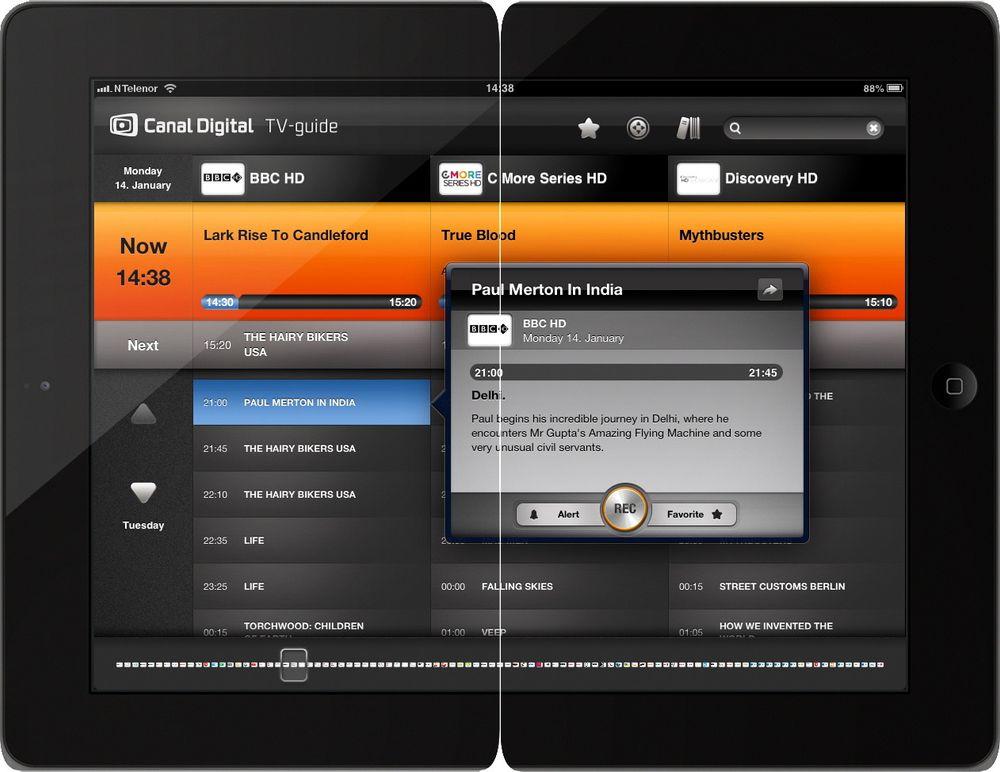 Styr opptakene fra iPaden: Canal Digital har lansert en ny nettportal og nye apper for iOS som gir kundene kontroll over PVR-boksen uten å være hjemme.