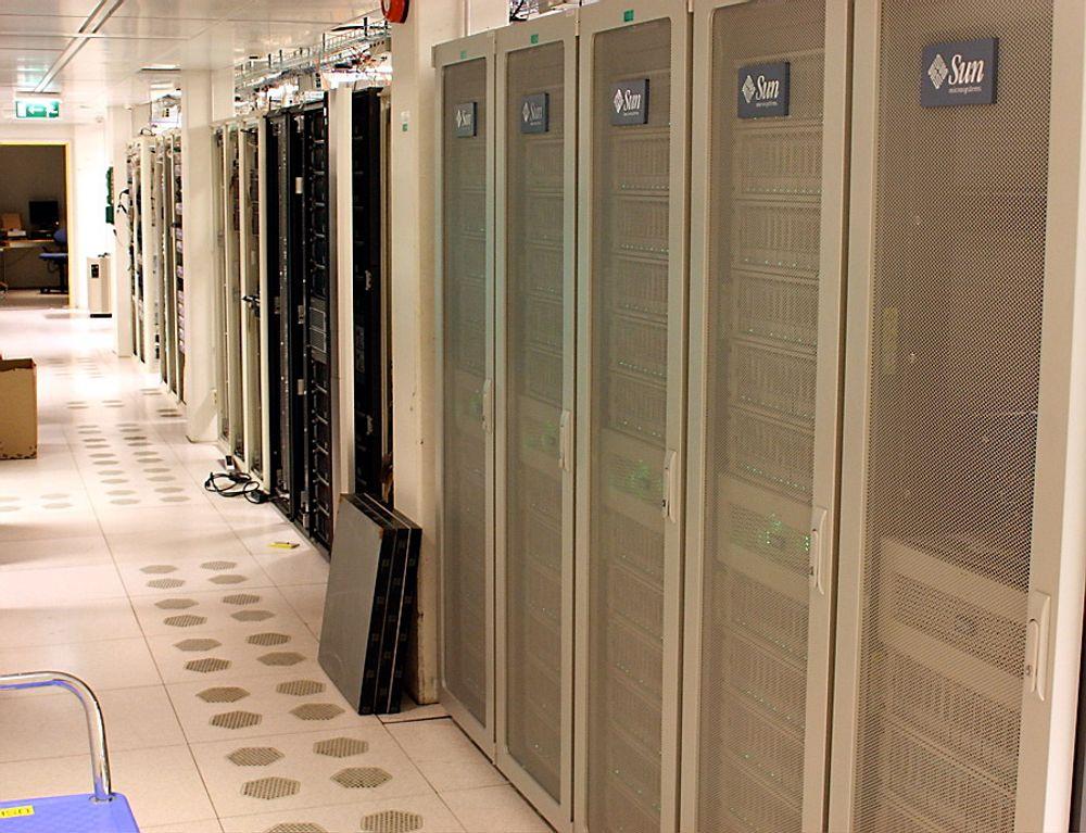 FULLT: Dagens Norstore-anlegg fra Sun StorageTek er stappfullt og byttes ut med større kapasitet fra Hitachi Data Systems.
