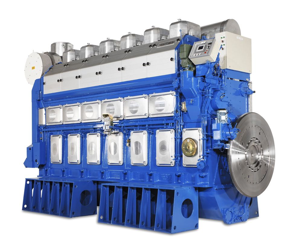 Dual fuel-motoren DF 50 har en ISO virkningsgrad på 49 prosent, mot cirka 37 prosent for turbiner.