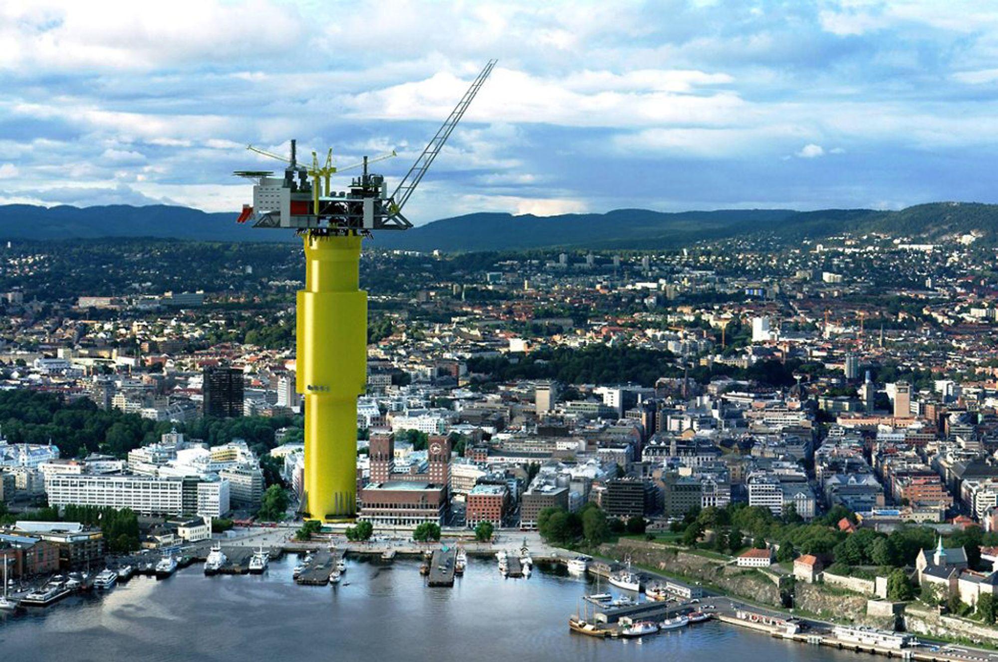 Stort: Aasta Hansteen-feltet bygges ut med en slik 200 meter høy plattform. Akkurat denne løsningen til Aker Solutions tapte imidlertid konkurransen med Technip.
