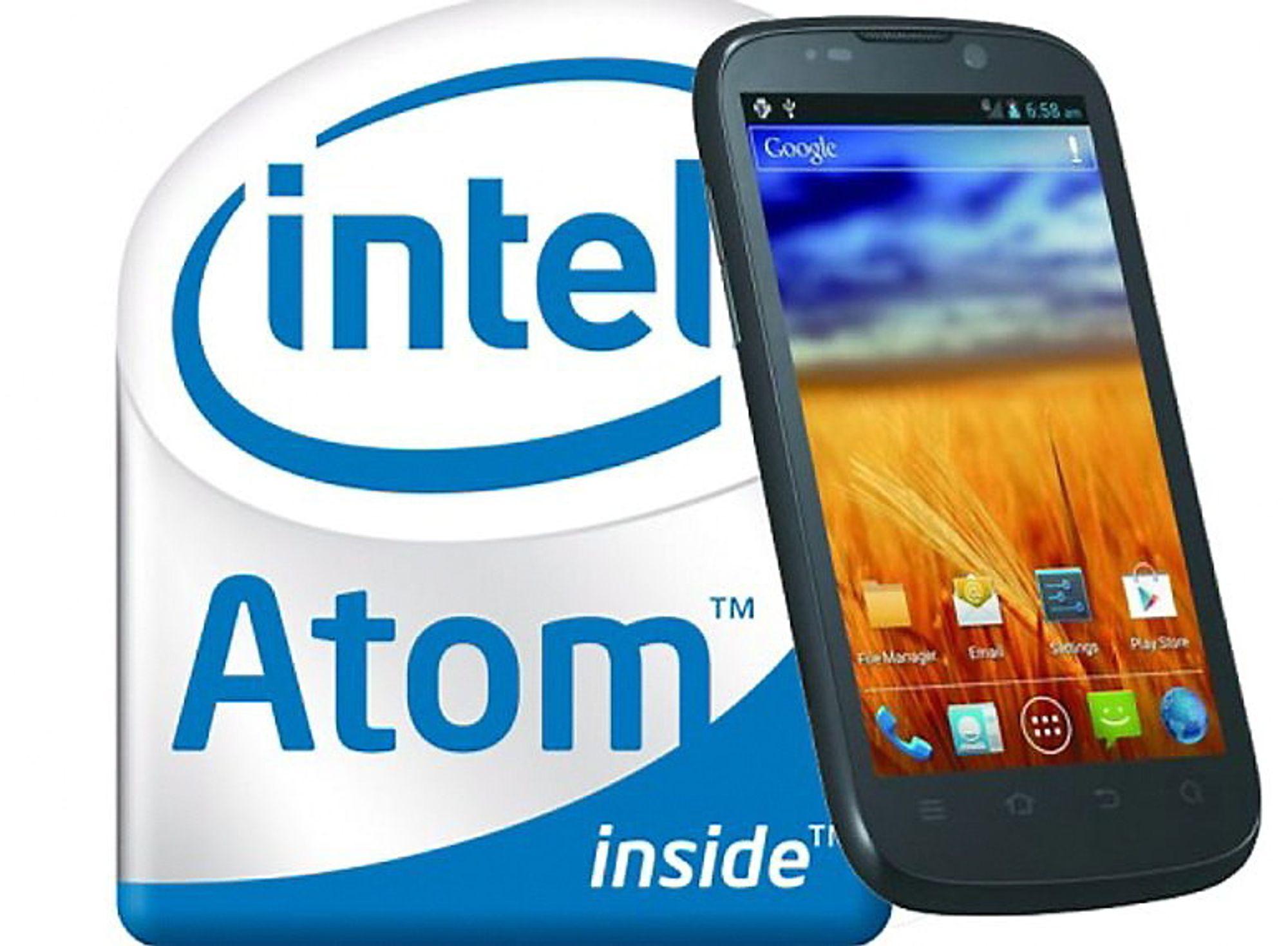 ZTE Grand X IN bruker en Intel Atom Z2460-prosessor på 1,6 GHz. Nå vil Intel ta en større del av smartphone-markedet.