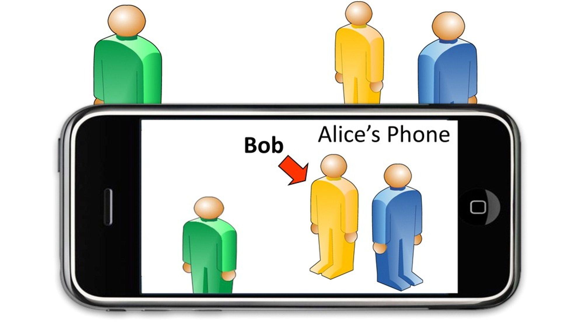 Når InSight gjenkjenner en person, kan appen vise deg hvor han er.