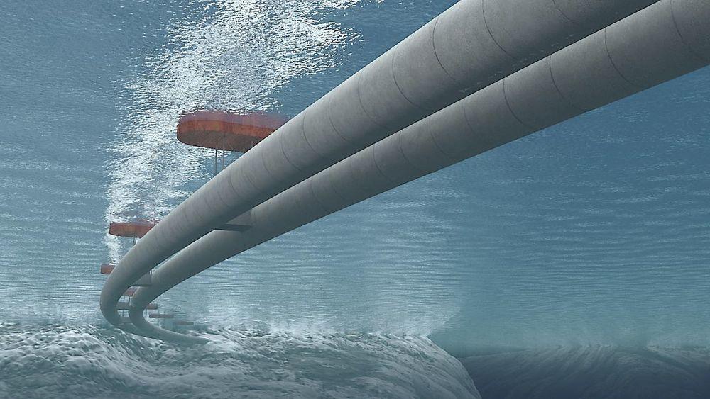 Rørbruer kan bli en av løsningene for å krysse brede og dype vestlandsfjorder. Ill: Statens Vegvesen