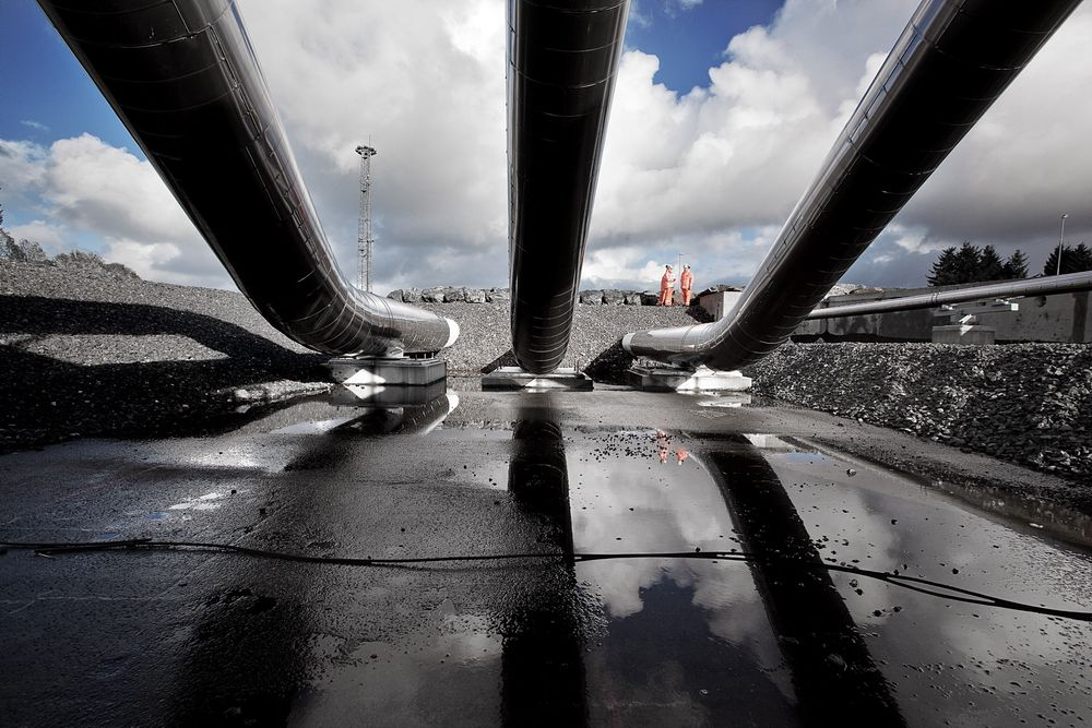 STRØMBRUDD: Strømbruddet på Nyhamna viser at gasseksporten fra Ormen Lange er sårbar, slik Statnett tidligere har advart om. (Foto: Håkon Jacobsen)