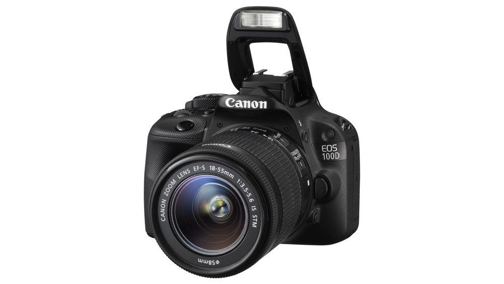 Canons nye 100D er nærmere 200 gram lettere enn de større EOS-kameraene.