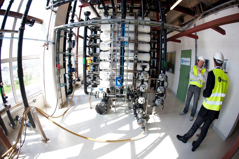 Statkraft får bygge et saltkraftverk på Sunndalsøra. Her fra prototypen på Tofte i Hurum.