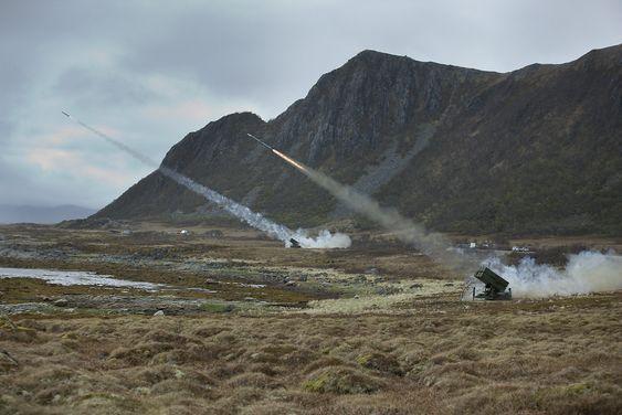Skarpskyting med Nasams på Andøya rakettskytefelt i 2008.