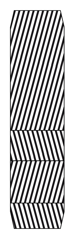 Diagonaldekket er bygget opp av kunstfibervev med tråder i stammen som går i diagonal retning over dekket fra den ene siden av felgen til den andre. De ligger i partall, typisk fire lag, i vinkel mot hverandre.
