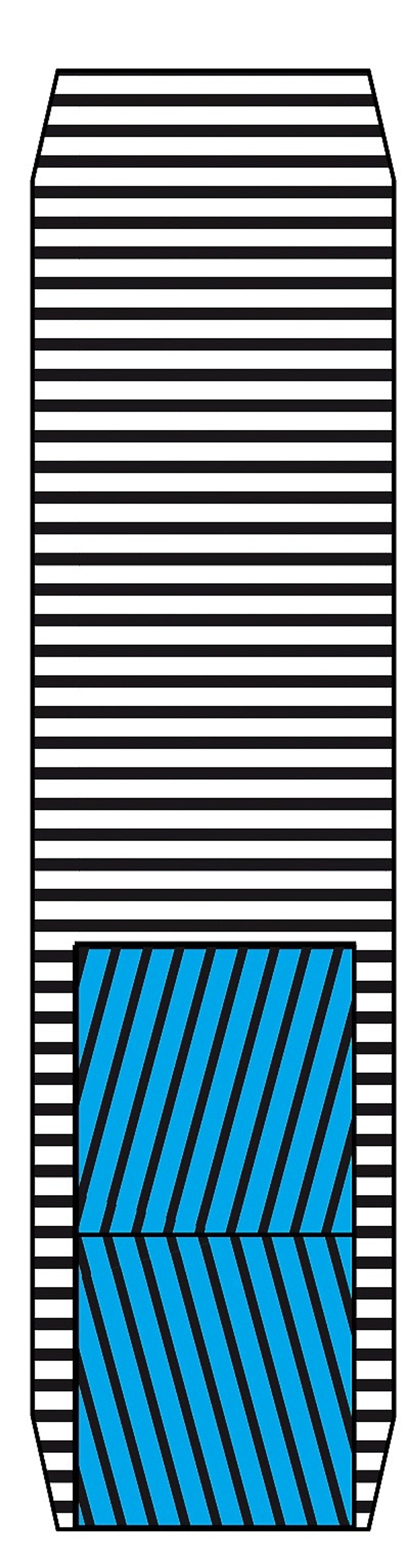 Radialdekket har cord i rayon eller polyester i personbildekk. Lastebiler bruker stål. Corden er orientert i radial retning i stammen. Under banen ligger et par lag med stålcord og over dem et lag med nyloncord - for å forsterke dekket.