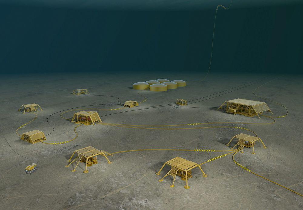 Kostnadseffektiv og pålitelig kraftforsyning er avgjørende for Statoils undervannsfabrikk, mener Statoil. Derfor utvikler ABB nå teknologi for undervanns strømforsyning i samarbeid med flere oljeselskaper. Illustrasjon: Statoil