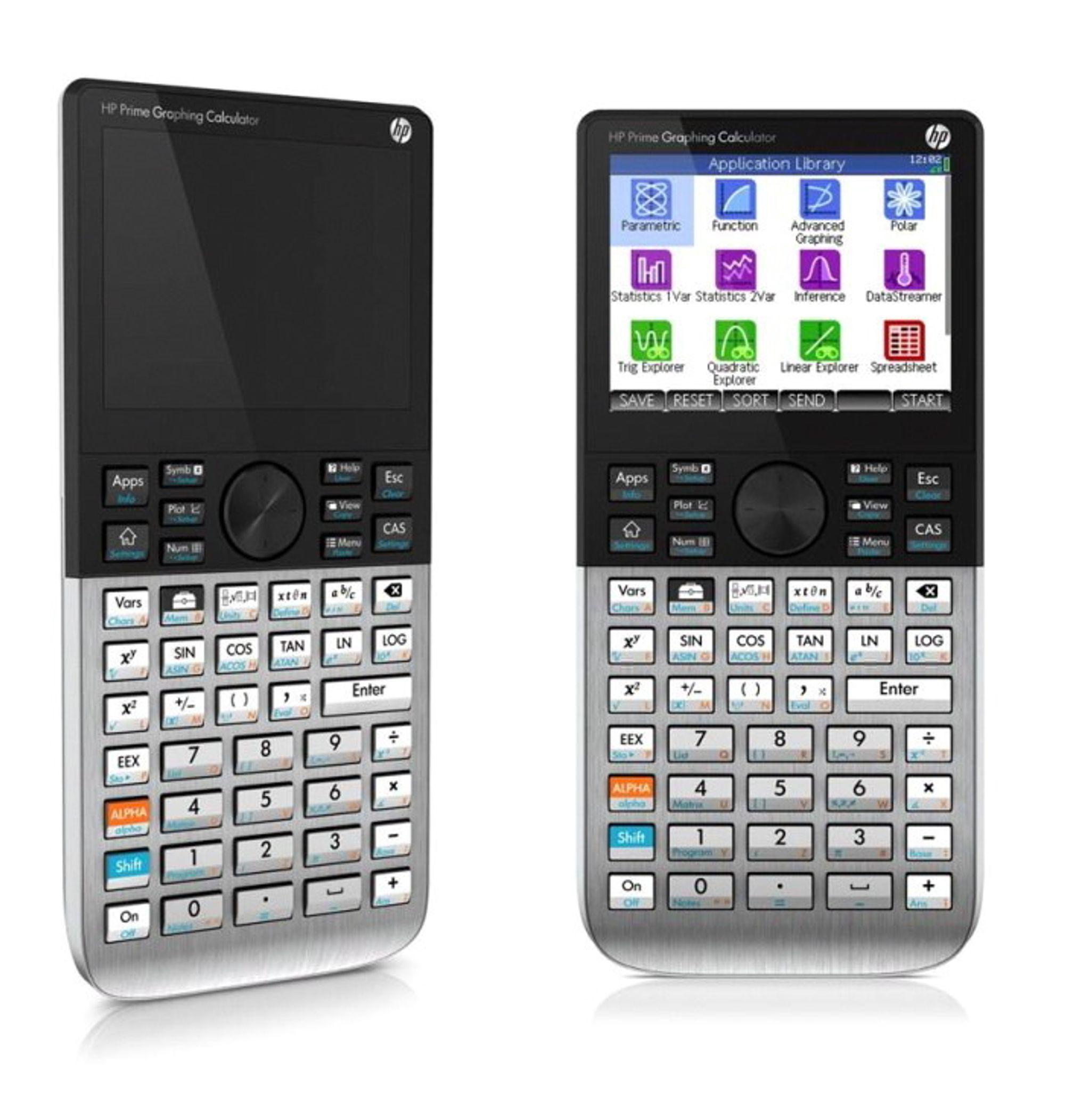 Lommematematiker: HP Prime Graphing Calculator er pakket full av matematikkapper og brukerne kan trekke og dra i grafene rett på skjermen.