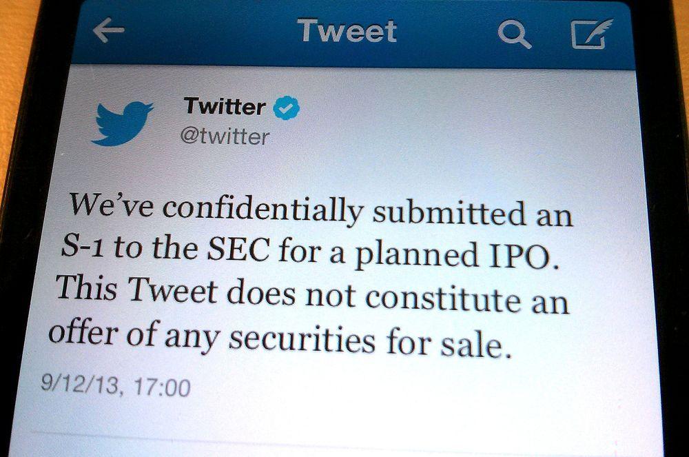 Twitter vil børsnoteres, noe de selvsagt varslet i en Twitter-melding torsdag.