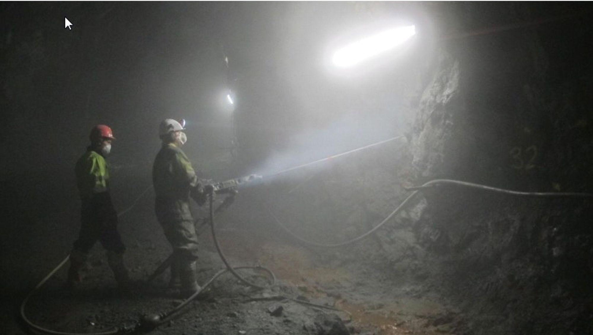 Her etableres testfeltet for bergsikringsbolter i Oslofjordtunnelen.