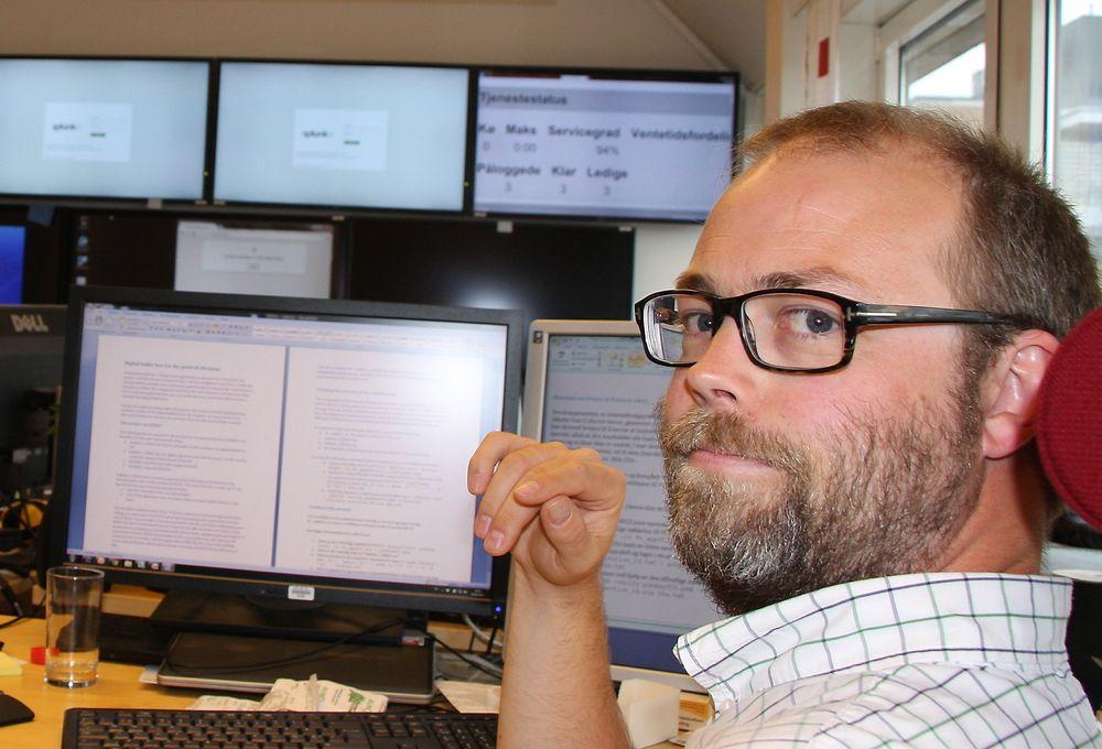 NYTT: Christian Bull er delprosjektleder med ansvar for tekniske løsninger og sikkerhet i E-valgprosjektet. Han satser på en total omskriving av koden i løsningen hvis forsøkene med e-valg fortsetter.