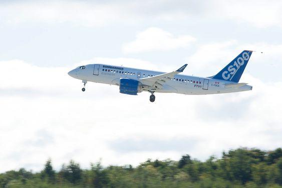 Bombardier CSeries fløy for første gang mandag denne uka.