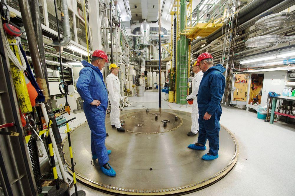 Ny konsesjon: Institutt for energiteknikk har søkt om ny konsesjon for reaktoren i Halden fra 2014 til 2022. Her fra tester med thorium som brensel. Foto: Torbjørn Tandberg/Thor Energy.