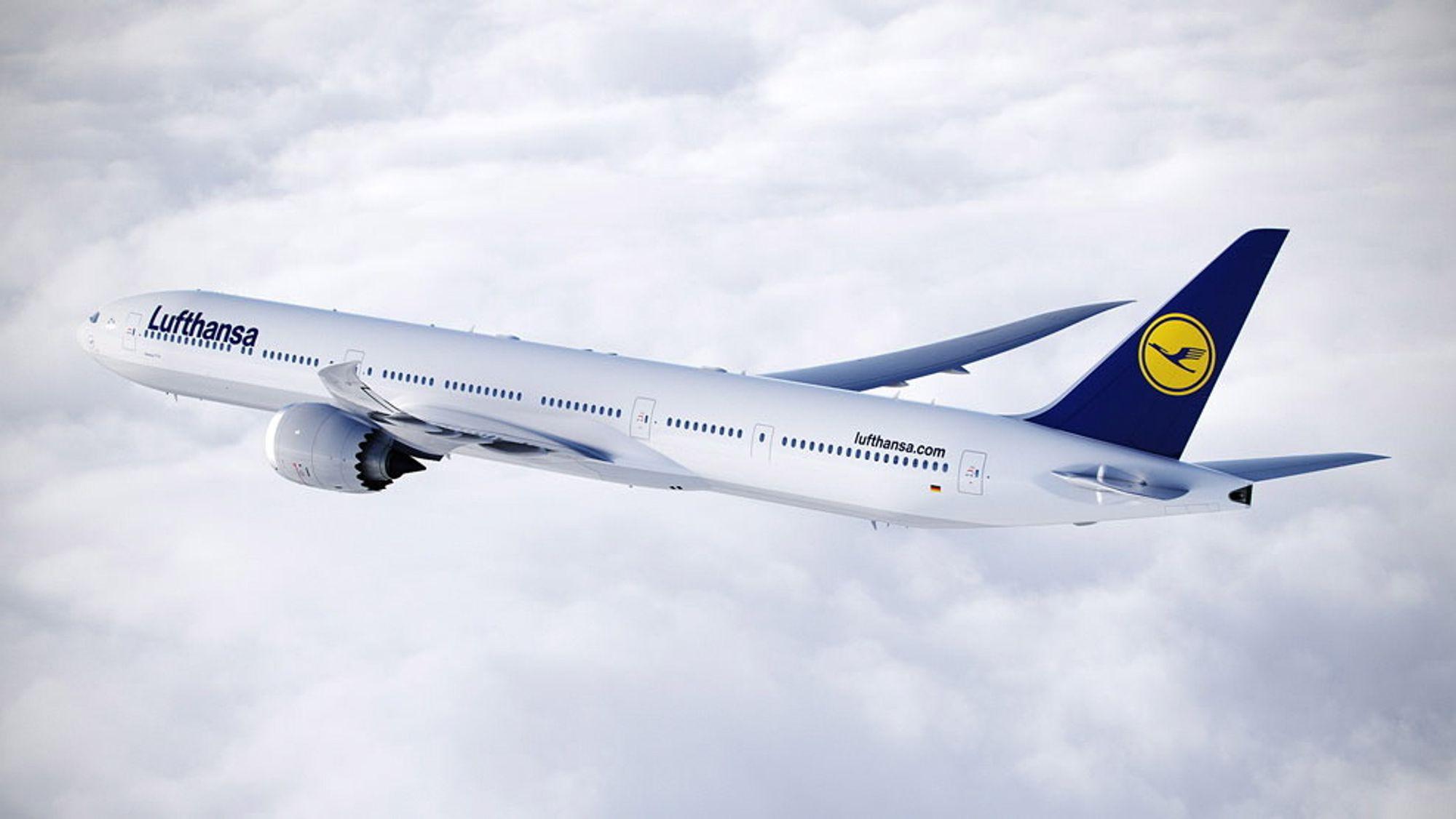 Lufthansa er ett av selskapene som har veldig høye pensjonskostnader.