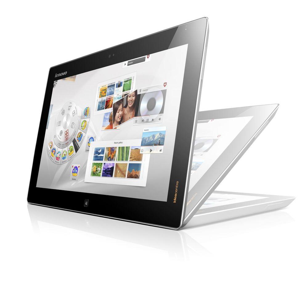 Giga-PC: Alt-i-ett-hybriden  har en skjerm på hele 20,5 tommer. Den kan settes opp oppreist eller flatt på bord som nettbrett.