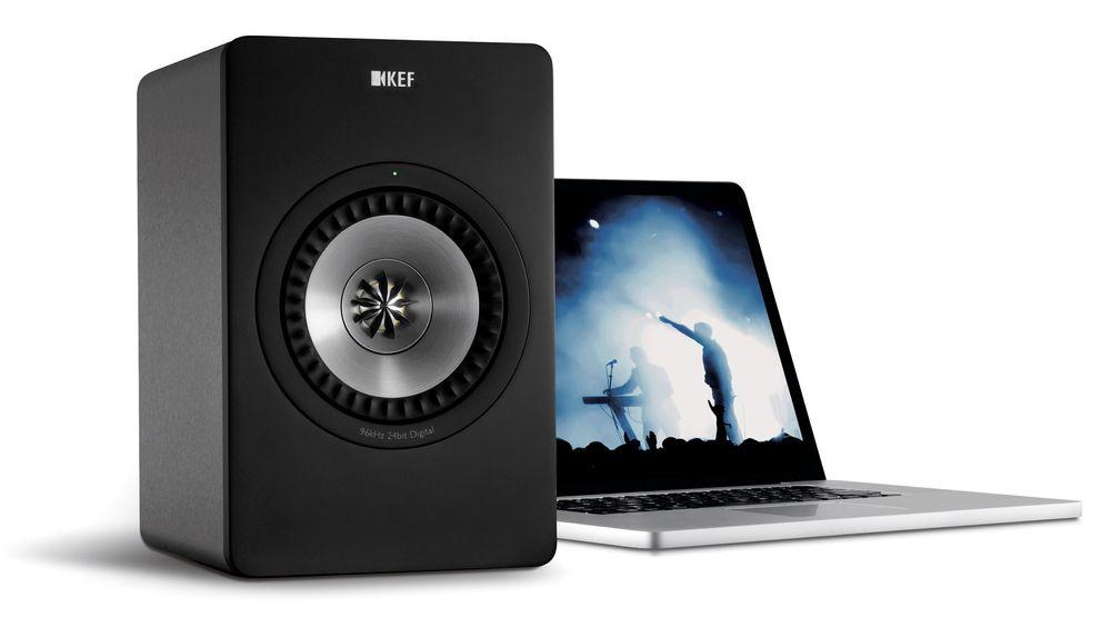 KEF X300A leverer strålende lyd til PC-en eller Mac-en.