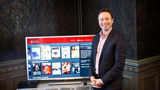 Kommunikasjonssjef Joris Evers i Netflix sier de snart vil lansere mer lokalt innhold, for eksempel en del som har gått på NRK og TV2.