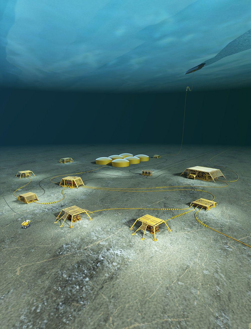 Målet: Statoils visjon om havbunnsfabrikk. De fleste av elementene er utviklet og testet. Det å sette det sammen i et samspillende system gjenstår, i tillegg til elemneter av kraftforsyning og flerfasepumping over lange avstander.