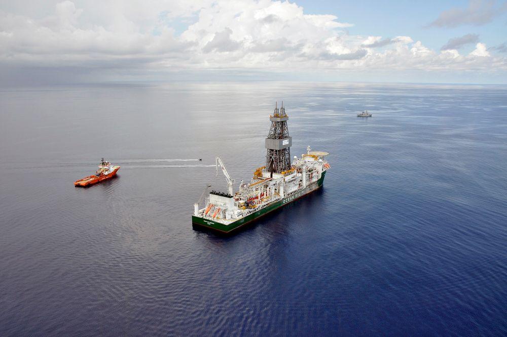 Gigantfunn: Boreskipet Ocean Rig Poseidon har funnet store mengder gass for Statoil utenfor Tanzania.