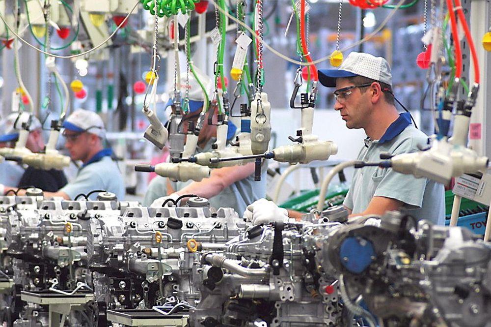 Studie av den høye produktiviteten hos japanske bilprodusenten Toyota er kilde til Leantankegang. Her fra en girkassefabrikk i Polen.